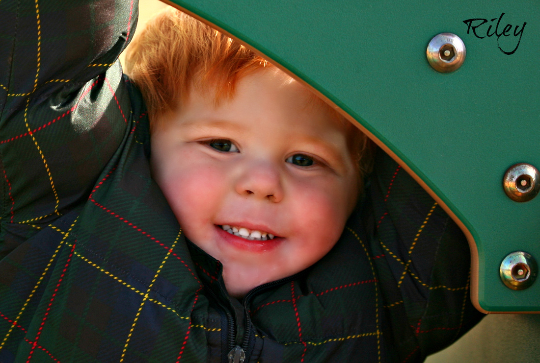Red head at the playground