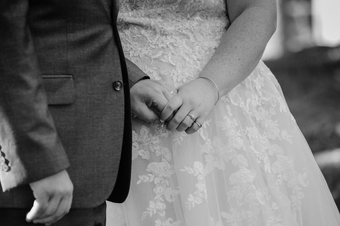 Wedding rings close up at Xanadu Island Resort