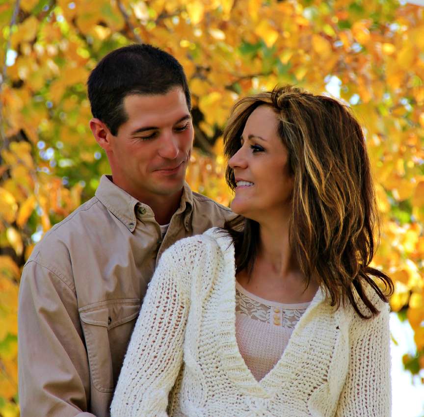 The happy couple - engagement photos at the The Landing in Shakopee Minnesota